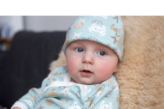 Snuggly Pigeon Seaside Romper and Knotted Hat