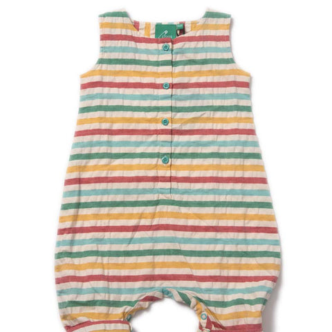 Little Green Radicals Beach Hut Seersucker Playsuit