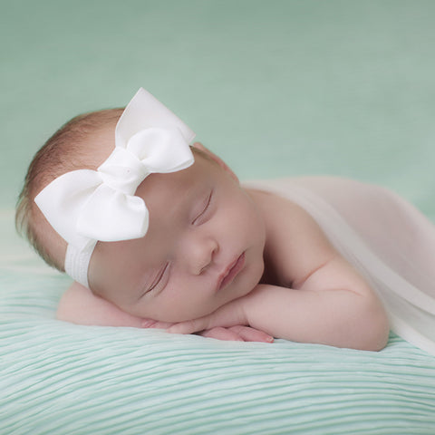 Cute Double Bow Ribbon Baby Headband - made by UK mums!