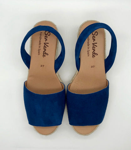Alicante wedge-Navy (Limoges)