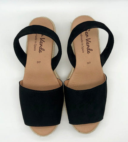 Alicante wedge-Black