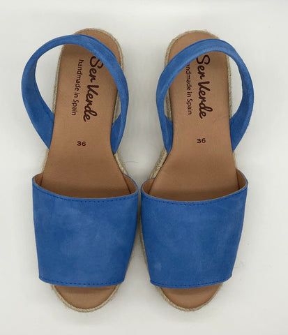 Alicante wedge-Oxford Blue