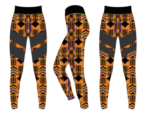 Original Kente Mesh Legging
