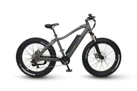Black QuietKat Ambush - Fat Tire Electric Mountain Bike by Truck