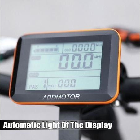 AddMotor Motan M150 P7 - Folding Fat Tire Electric Bike - Display