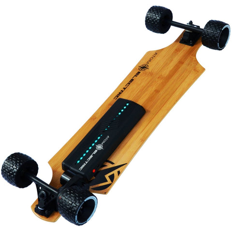 Atom Long Boards B10X All-Terrain Electric Skateboard - Bottom View