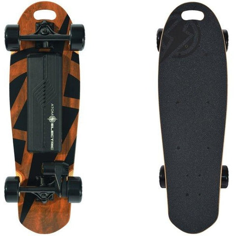 Atom Long Boards B10 Electric Skateboard -Bottom and Top View