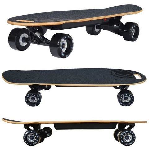 Atom Long Boards B10 Electric Skateboard - 3 Side Views