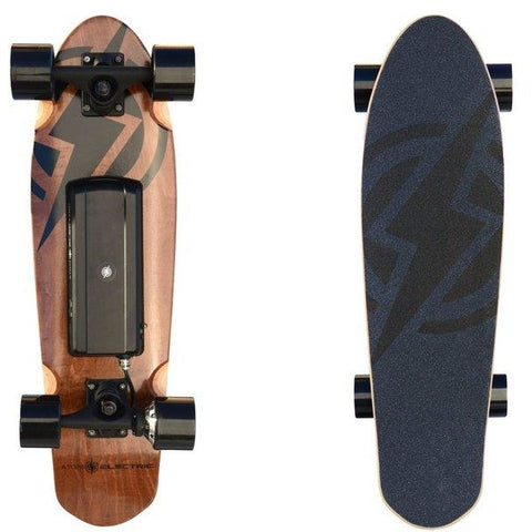 Atom Long Boards H4 Electric Skateboard - Bottom and Top View