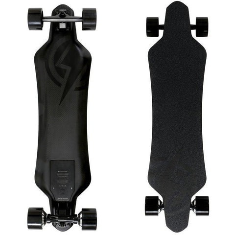 Atom Long Boards  H16D Carbon Electric Skateboard - Top and Bottom View