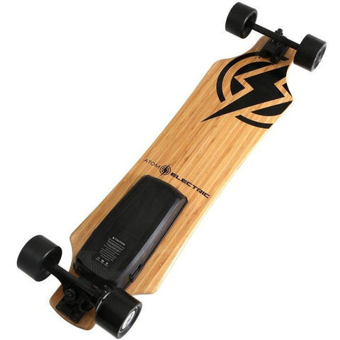 Atom Long Boards  H10 Electric Skateboard - Bottom View with Battery