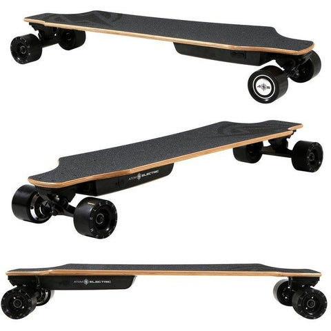Atom Long Boards  H10 Electric Skateboard - 3 Side Views