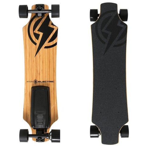 Atom Long Boards  H10 Electric Skateboard - Top and Bottom View