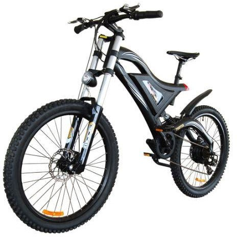 Black AddMotor HitHot H5 - Electric Mountain Bike - Front View