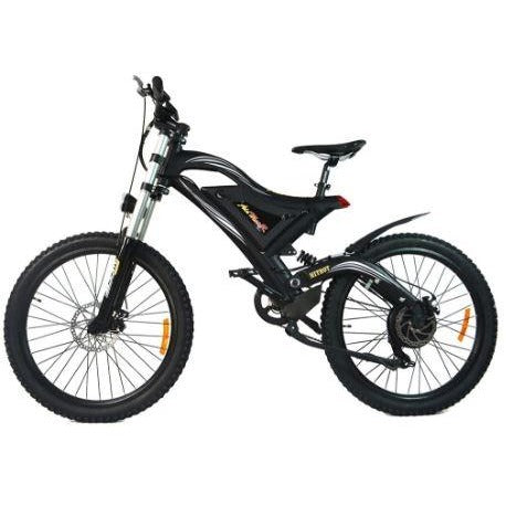 Black AddMotor HitHot H5 - Electric Mountain Bike - Side View