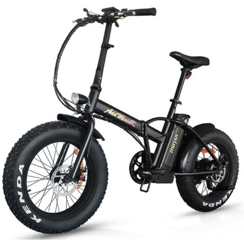 Black AddMotor M-150 - Folding Fat Tire Electric Bike - Front View