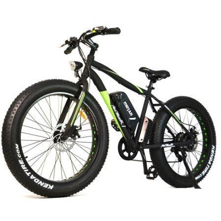 Black AddMotor Motan M550 - Fat Tire Sport Electric Bike - Front View