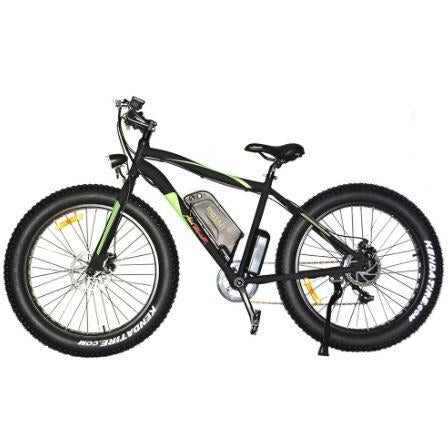 Black AddMotor Motan M550 - Fat Tire Sport Electric Bike - Side View