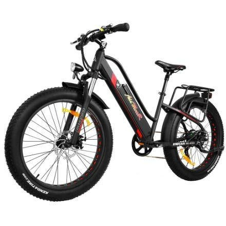 Black AddMotor Motan M450 - Fat Tire Electric Bike - Front View