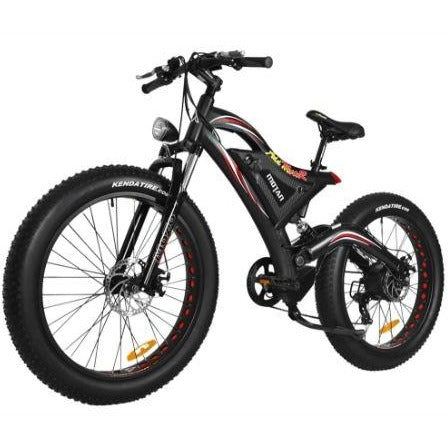 Black AddMotor Motan M850 750W - Electric Mountain Bike - Front View