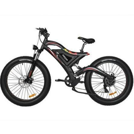 Black AddMotor Motan M850 750W - Electric Mountain Bike - Side View