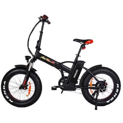 Black AddMotor Motan M150 P7 - Folding Fat Tire Electric Bike - Side View