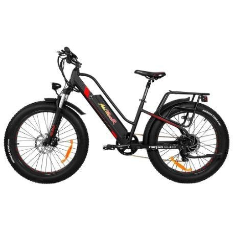 Black AddMotor Motan M450 - Fat Tire Electric Bike - Side View