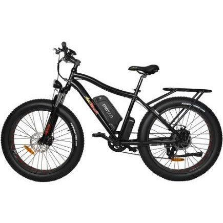 Black AddMotor Motan M550 750W -  Fat Tire Electric Bike - Side View