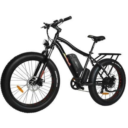 Black AddMotor Motan M550 750W -  Fat Tire Electric Bike - Front View