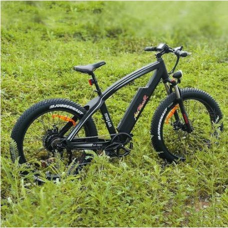 Black AddMotor Motan M560 - Sport Fat Tire Electric Bike - In field