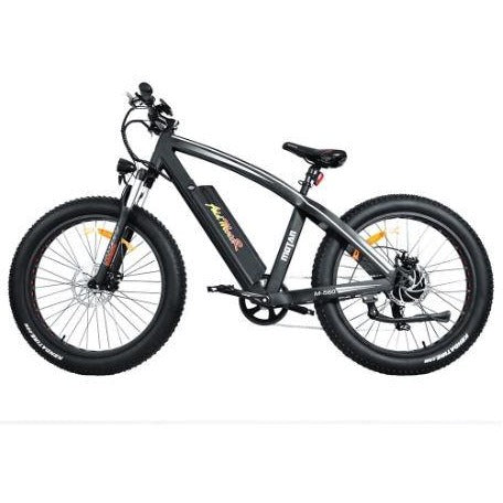 Black AddMotor Motan M560 - Sport Fat Tire Electric Bike - Side View