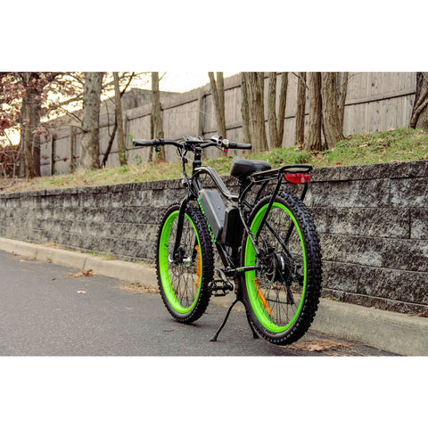 Black Big Cat Wildcat 500 - Electric Mountain Bike - On Street