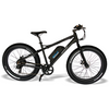 Image of Black Rims EMOJO Wildcat - Fat Tire Electric Bike - Side View