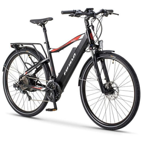 Black Fifield Bonfire 500 - Electric Commuter Bike - Front View