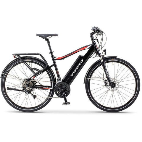 Black Fifield Bonfire 500 - Electric Commuter Bike - Side View