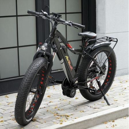 Black AddMotor Motan M5800 - Fat Tire Electric Bike - On Pavement