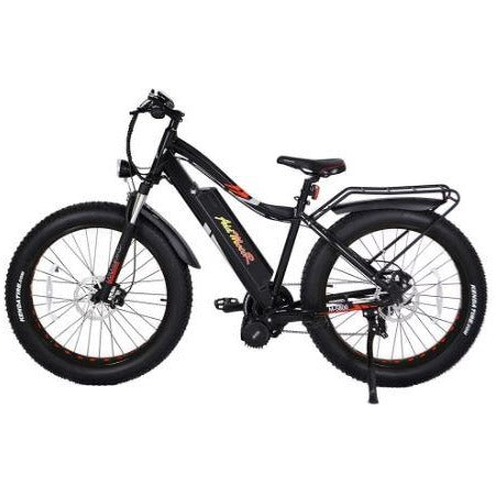Black AddMotor Motan M5800 - Fat Tire Electric Bike - Side View