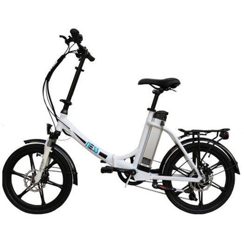 Black Ness Icon Folding Electric Bike - Side View