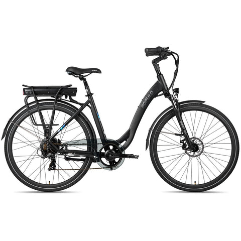 Black Populo Lift V2 Electric Cruiser Bike - Side View