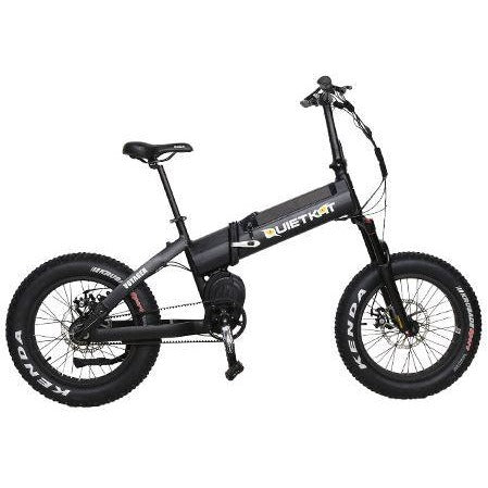 Black QuietKat Voyager - Electric Folding Mountain Bike - Side View