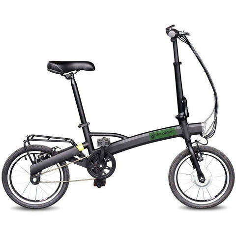 Black Velo Mini Plus - Folding Electric Bike - Side View