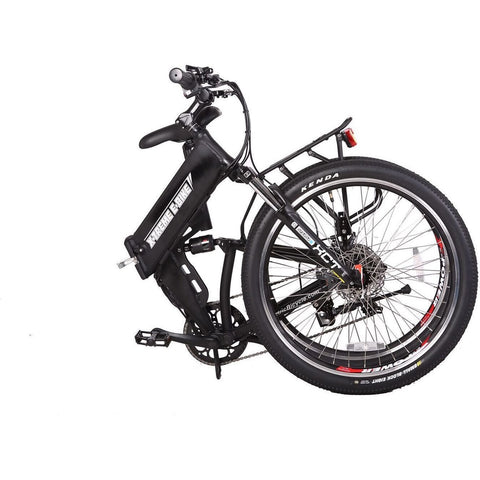 Black X-Treme X-Cursion Elite 36V Folding Electric Mountain Bike - Folded