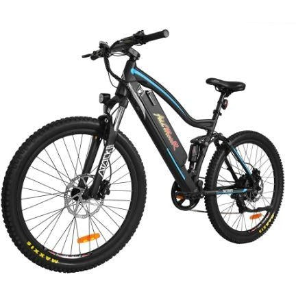 Blue AddMotor HitHot H1 Platinum - Electric Mountain Bike - Front View