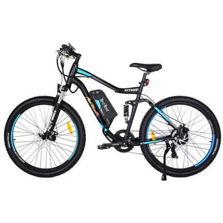 Blue AddMotor HitHot H1 - Electric Mountain Bike - Side View