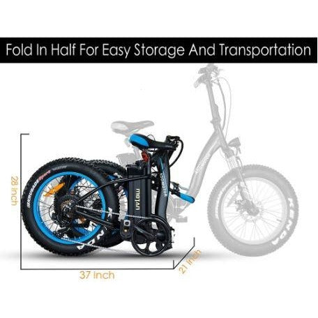 AddMotor Motan M140 - Folding Fat Tire Electric Bike - Folded