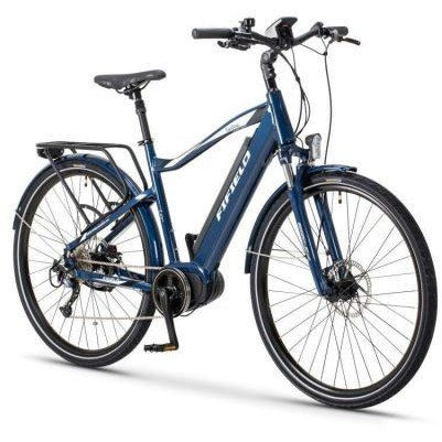 Blue Fifield Bonfire 350 - Electric Commuter Bike - Front View