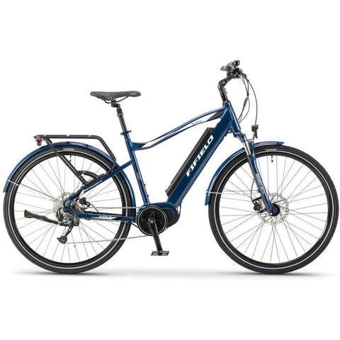 Blue Fifield Bonfire 350 - Electric Commuter Bike - Side View