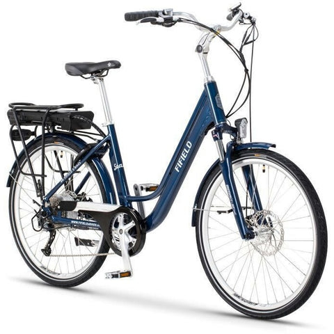 Blue Fifield Seaside - Electric Cruiser  Bike - Front View