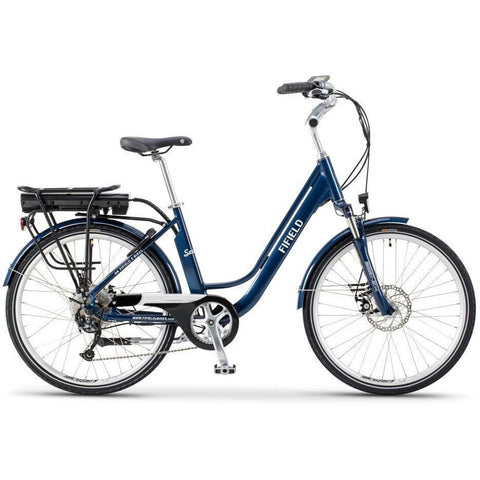 Blue Fifield Seaside - Electric Cruiser  Bike - Side View