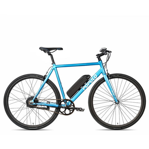 Blue Populo Sport V3 Electric Commuter Bike - Side View
